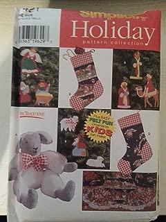 Simplicity 7421 Holiday Sewing Pattern Christmas Felt Ornaments Treeskirt Stocking Lamb