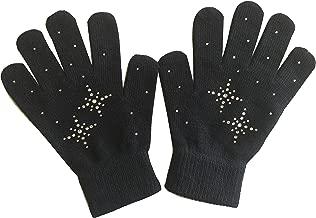 Fashion Every Day @ fedol Niñas Patinaje Sobre Hielo Guantes Magic elástico con Brillantes Copos de Nieve