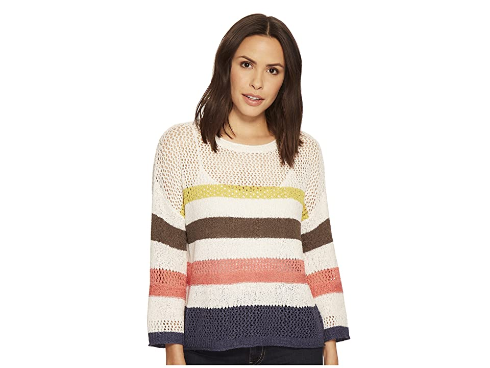 Three Dots Multicolor Stripe Sweater (Multi) Women