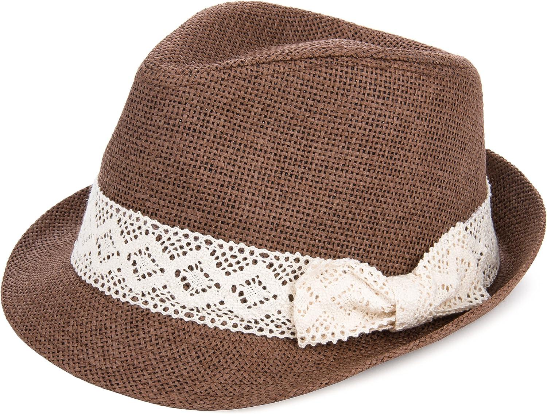 Aerusi Women's Casual Trilby Fedora Hat