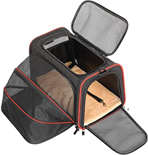 Petsfit Expandable Cat Carrier Dog Carriers,Airline Approved Soft-Sided Portable Pet Travel Washable Carrier for Kittens,P...