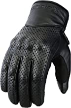 Guantes ventilados de Motocicleta Protección del Cuero Genuino y del nudillo, XL