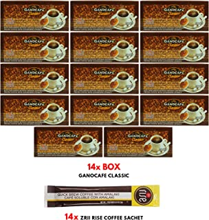 14 boxes GanoCafe Classic Instant Black Coffee with FREE sample + to US