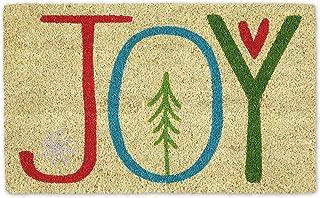DII Indoor/Outdoor Natural Coir Holiday Season Doormat, 18x30, Joy