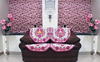 Fab Nation Elegant Floral 2 Seater In Net Polyster Fabric In Exclusive Design