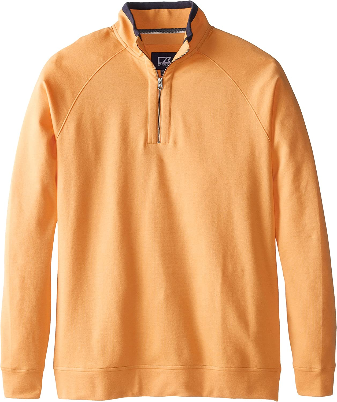 Cutter & Buck Men's Big-Tall Emery Half-Zip Sweatshirt, Shine, 2X/Big