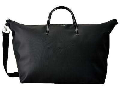 Lacoste L.12.12 Concept Travel Shopping Bag (Black) Handbags