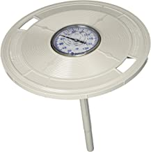 Pentair L4W 9-3/16-Inch White Round Lid Replacement Pool and Spa Skimmer with Thermometer