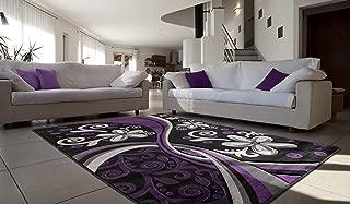 purple swirl rug