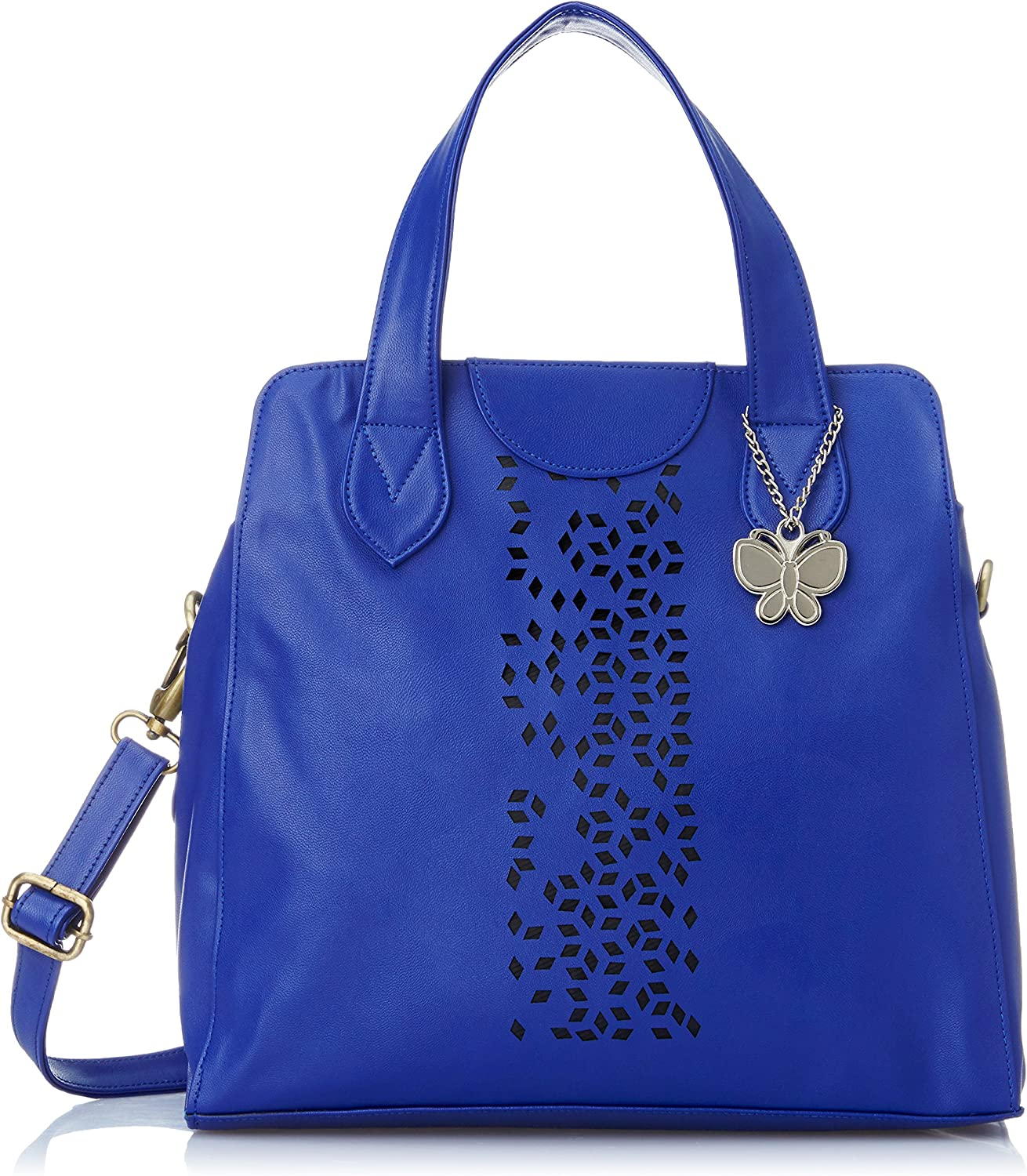 Butterflies Women's Handbag (Dark bluee) (BNS 0455 DBL)