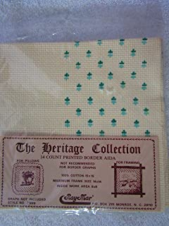 Ray Mar Heritage Collection 14 Count Printed Border Aida Blue