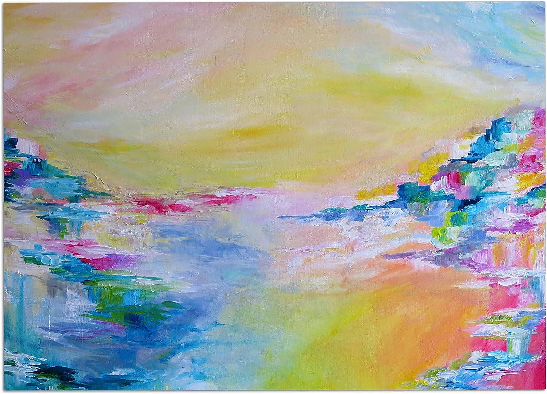 KESS InHouse JD1112ADM02 EBI Emporium Something About The Sea Yellow Multicolor Dog Place Mat, 24  x 15