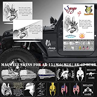 SAVAGE XP Tattered American Flag Sticker Sheet and Decal Pack | Various US Flag Sizes Big and Small 6x4 inch, 2x3 in, and 1/2"