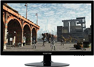 "Sceptre E205W-1600 20"" 75Hz Ultra Thin LED Monitor HDMI VGA Build-in Speakers, Metallic Black (2018 version)"