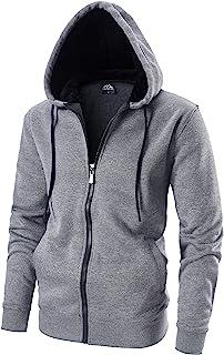 Sponsored Ad - LAIWANG Men's Full zip Hoodie -Long Sleeve - Dri Power Hooded Sweatshirt Fleece With Kanga Pocket