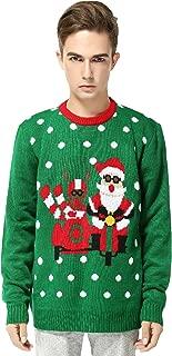 v28 Men's Christmas Reindeer Snowman Penguin Santa and Snowflakes Sweater