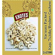 Exotes Premium Dry Fruits (Kaju Tukda (2 Tukda)), 2 X 250 g