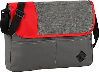 Bullet Offset Convention Messenger (UK Size: 38 x 5.5 x 29 cm) (Grey/Red)