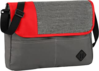 Bullet Offset Convention Messenger (UK Size: 38 x 5.5 x 29 cm) (Grey/Red)
