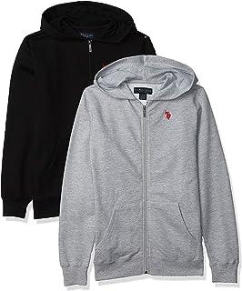 U.S. POLO ASSN. boys Essential 2 Pack Zip Front Fleece Hooded Sweatshirt Hooded Sweatshirt