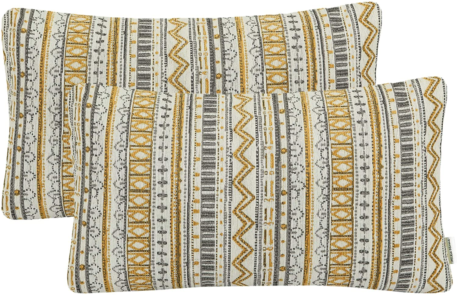 Mika Home Pack of Manufacturer direct delivery 2 Rectangle Cases Pillow Decorative Pill Throw Max 79% OFF
