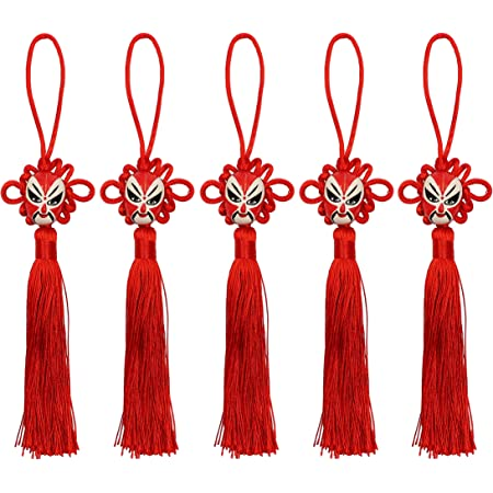 Selling Wonderful 10PCS Handmade 10 Chinese Knots Coffee Soft Tassels With Satin Silk Made Traditional Chinese Lucky Knots To Attract Wealth Good Fortune And Health