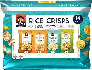 Quaker Rice Crisps Sweet & Savory Variety Pack, 14 Count