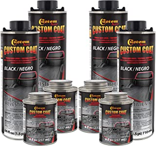 Custom Coat Black 1 Gallon Urethane Spray-On Truck Bed Liner Kit - Easy 3 to 1 Mix Ratio, Just Mix, Shake and Shoot - Prof...
