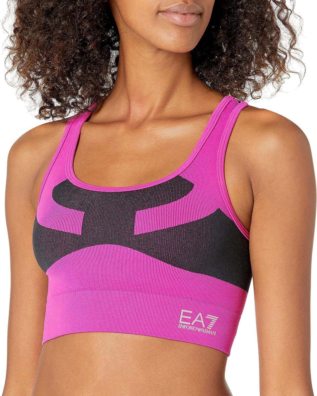 EA7 Emporio Armani Active Women's Vigor 7 Sports Bra, Pink, M