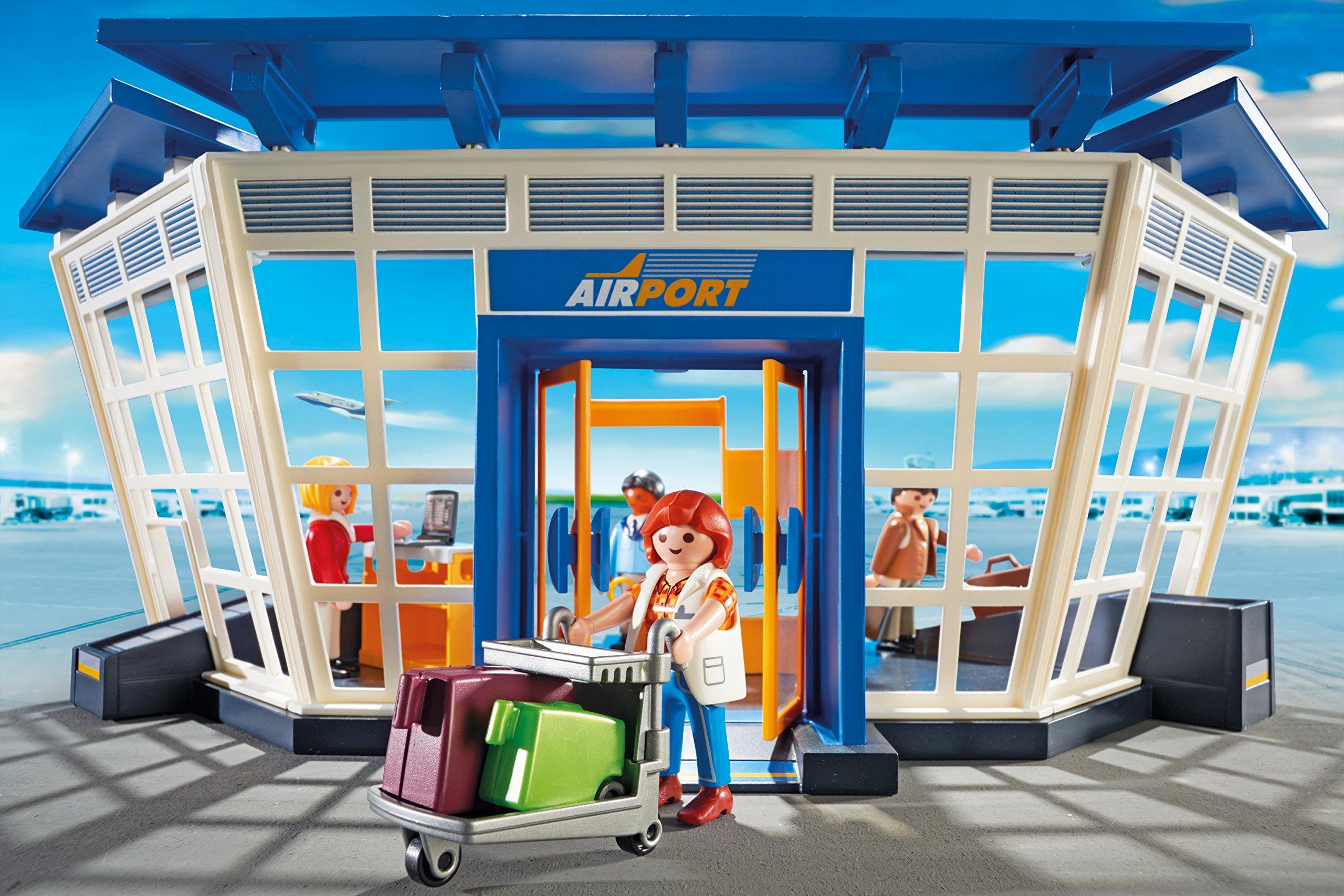 Playmobil - Torre de Control y Aeropuerto (5338): Amazon.es: Juguetes y juegos