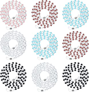12 Pieces Beaded Eyeglasses String Holder Sunglasses Strap Chain Cord for Women