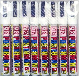Zig Posterman 6mm blanc Pen étanche Ardoise liquide - Pack de 8 - Nib 6mm