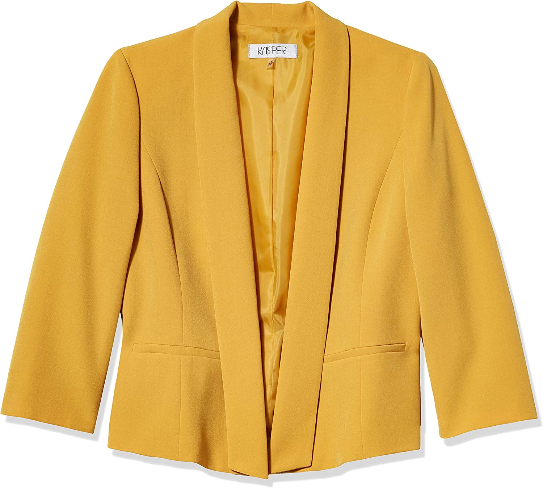Kasper Women's Stretch Crepe Fly Away Jacket at Amazon Women's Clothing  store