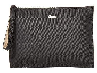 Lacoste Anna Clutch (Tuareg Grey Chine/Grey Chine/Calla Pink) Clutch Handbags