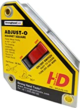 Strong hand Tools, Adjust-O Magnet Square, On/Off switches, 4.375-Inch x 3.75-Inch, MSA46-HD