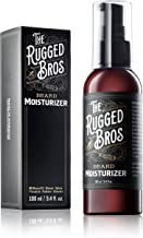 Beard Moisturizer for Men by The Rugged Bros - Leave in Conditioner and Softener for Grooming, Styling, and Shaping - Moroccan Argan Oil - The Best Natural and Organic Ingredients (3.4 oz)