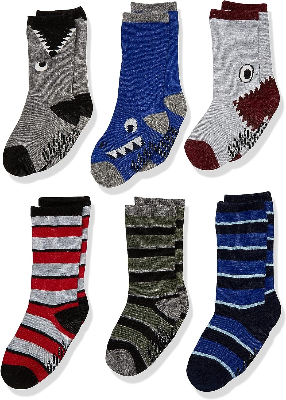 The Children's Place boys Toddler Monster Crew Socks 6-pack