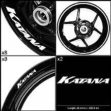 Stickman Vinyls Motorcycle Decal Gloss White Graphic Kit For Suzuki Katana