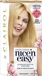 Clairol Nice 'n Easy Permanent Hair Color, 9G Light Golden Blonde, 1 Count, Blondes (Packaging May Vary)
