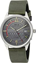 AVI-8 Men's 'Hawker Hurricane' Quartz Stainless Steel and Nylon Casual Watch