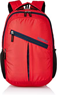 Amazon Brand - Solimo Svelte Laptop Backpack for 15.6-inch Laptops (27 litres,Red)