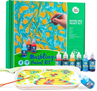 Jar Melo Marbling Painting Kit;Non-Toxic;Painting on Water;Creative Marbling Art for Children