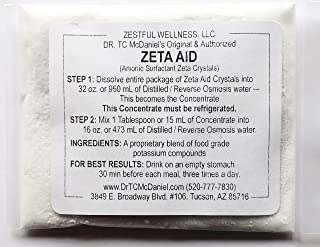 Zeta Aid Crystals - Dr. TC McDaniel's Original And Authorized Zeta Aid Crystals - 3 Oz Package