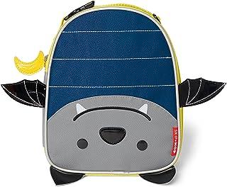 "Skip Hop Zoo Kids Insulated Lunch Box, Bailey Bat, 9""x3.25""x7.5"", Blue"