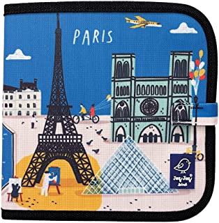 Jaq Jaq Bird Paris 1101086 Chalk Colouring Book with 4 Chalks, Wipe Clean Colouring Book for Children, Multi-Colour