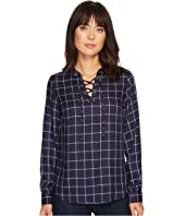U.S. POLO ASSN. - Lace-Up Twill Pullover Shirt