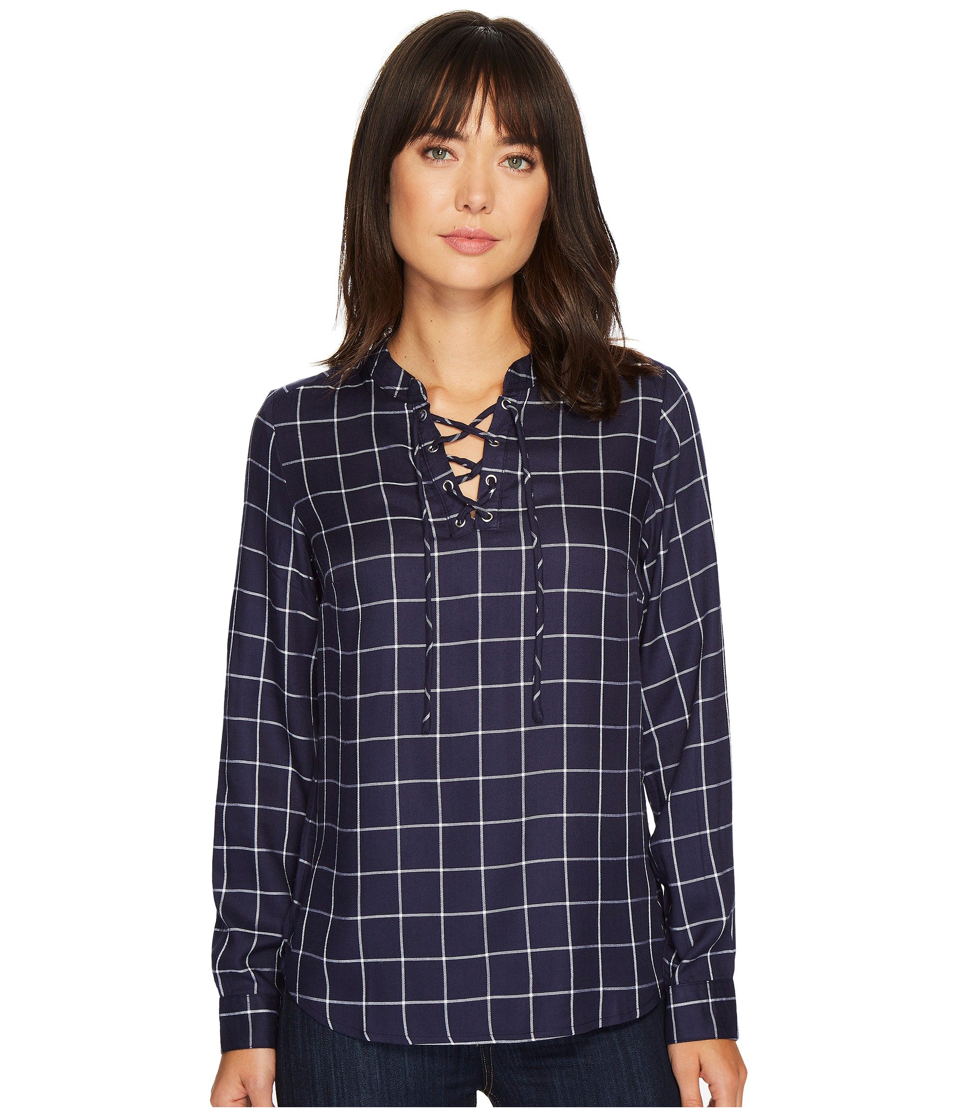 Blusa para Mujer U.S. POLO ASSN. Lace-Up Twill Pullover Shirt  + U.S. POLO ASSN. en VeoyCompro.net