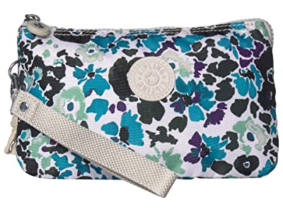 Kipling Creativity XL Pouch (Blue Field Floral) Clutch Handbags