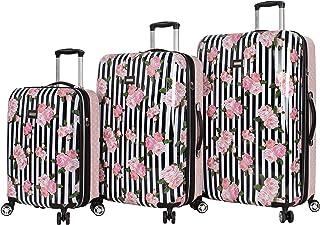 Betsey Johnson Designer Luggage Collection - Expandable 3 Piece Hardside Lightweight Spinner Suitcase Set - Travel Set inc...