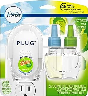 Febreze Plug Odor-Eliminating Air Freshener, Scented Oil Refill and Oil Warmer, Gain Original Scent, 1 count